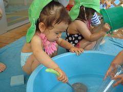 水遊び1歳3