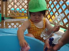 水遊び1歳6