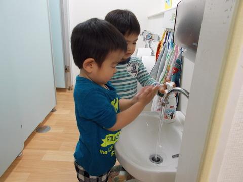 うさぎ手洗い4月2