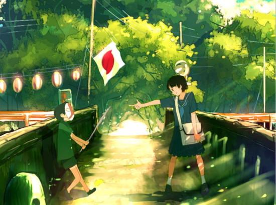 【土曜日の昼】小学校の帰り【青い空セミの声】