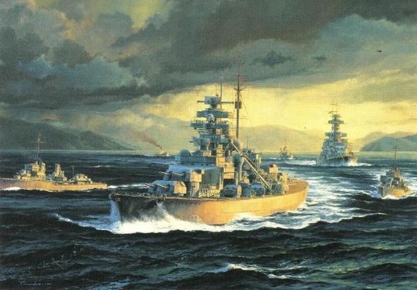 彡゚゚ と学ぶライン演習作戦とビスマルク級戦艦