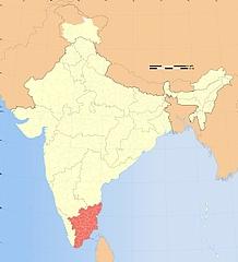 Map Tamilnadu in India