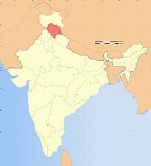 Map Himachal Pradesh in India