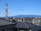 テラスから見る丹沢と富士山