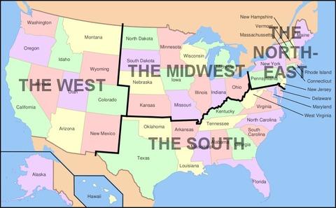 アメリカ中西部ってどこ