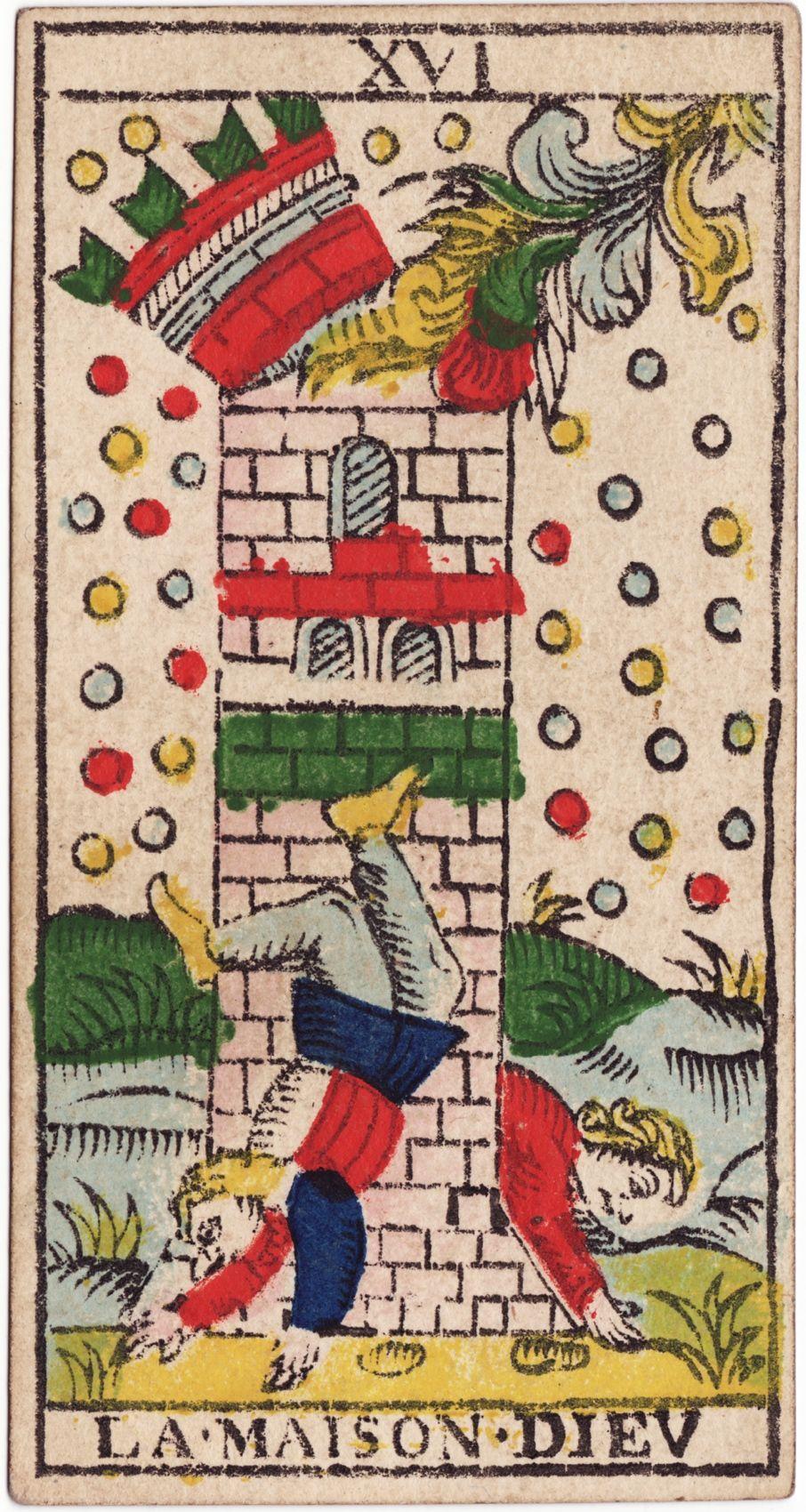 タロットカードの名称(LA・MAISON・DIEU) : Marseille Tarot School