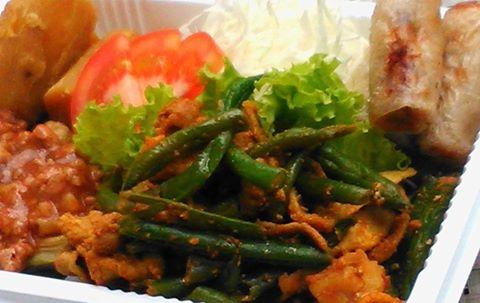 豚いんげんカレー風味炒め弁当(Aセット)