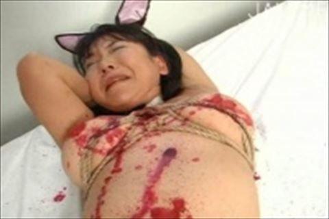 【南出かな】巨乳バニーガールの女の子がペニバンでイラマチオされたり、縛られて蝋燭攻めにされるイメージビデオ