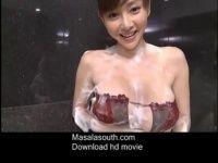 【xvideos】小顔美女な杉原杏璃が泡まみれでソープ嬢ばりに洗いっこしてくれるセクシーイメージビデオ着エロ動画w