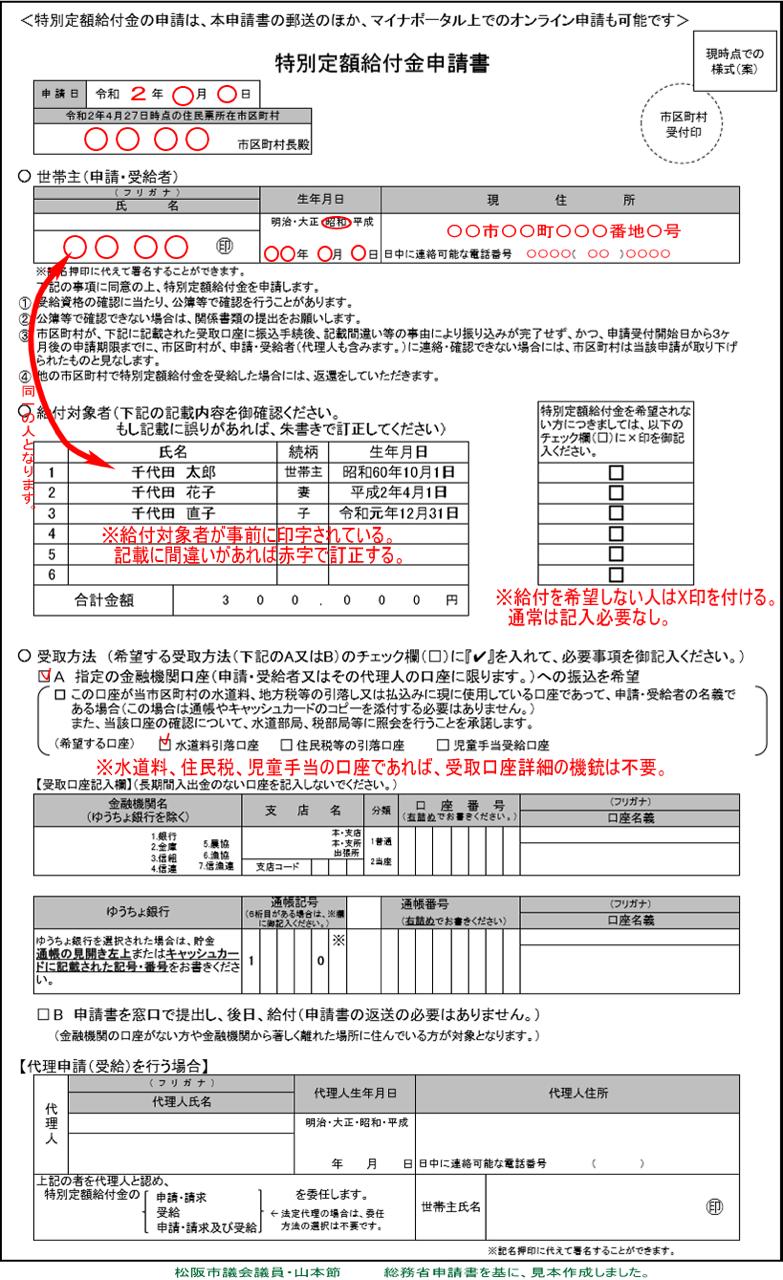 江東区 特別定額給付金