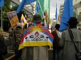 3月28日 中国の農奴解放記念日への抗議デモ