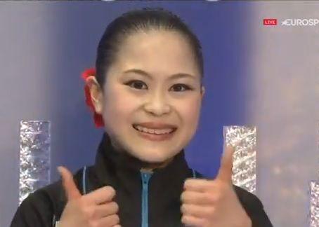 NHK杯 女子SP 今日は未来ちゃんが一番