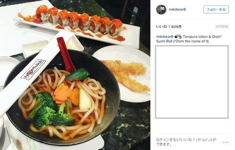ミーシャ LAのうどんとお寿司