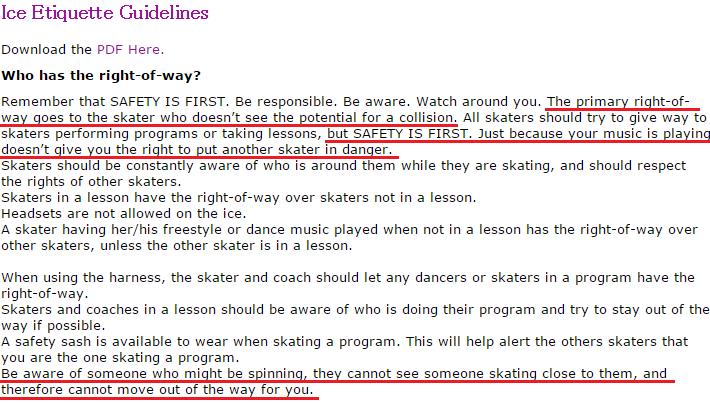 Ice Etiquette Guidelines