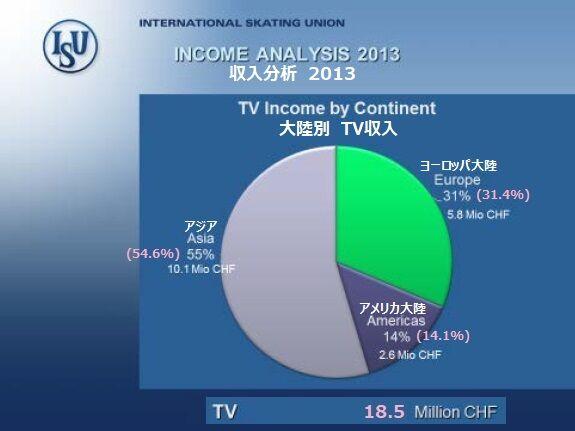 2013 収入 テレビ