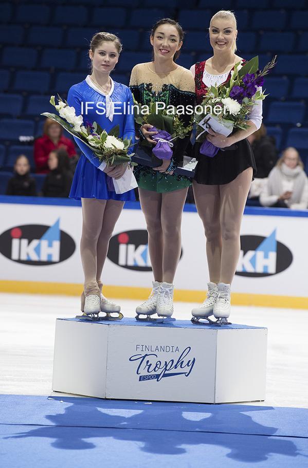 フィンランディア杯女子表彰台