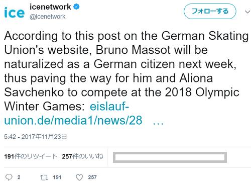 ブルーノ・マッソさん 正式にドイツの市民権を得る