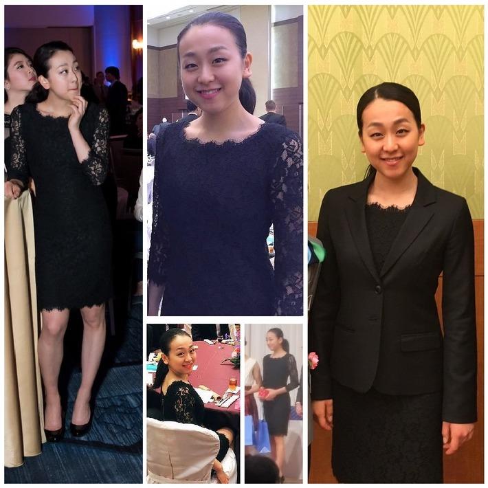 NHK杯2015のバンケで 真央ちゃんが着ていたドレス