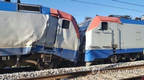 平昌五輪用の列車の試運転で事故