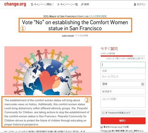 サンフランシスコ慰安婦像反対署名運動