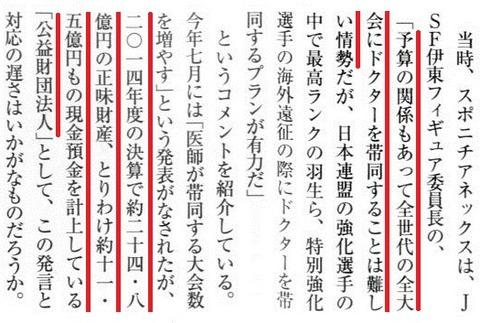 「公益財団法人」日本スケート連盟 常勤理事ゼロ 無報酬は本当?