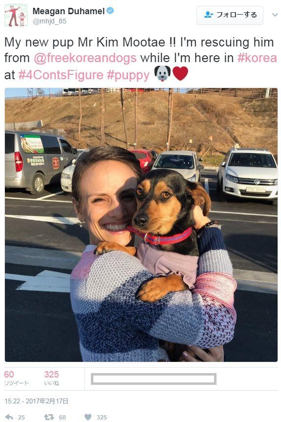 メーガンは本当に四大陸でビーグルの子犬を救った
