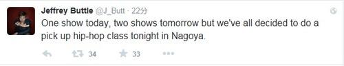 ジェフたち、今夜名古屋でヒップ・ホップ・クラス!