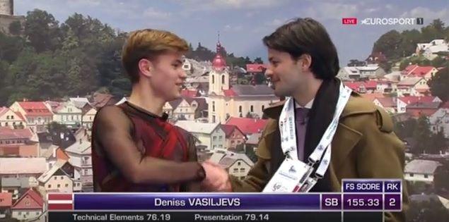 ヴァシリエフスくん 最初のジャンプが・が・が… でも良かった