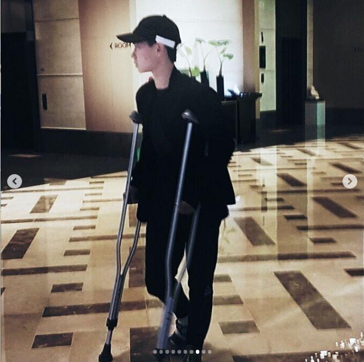 平昌前、テンくんも右足靭帯を痛めていた