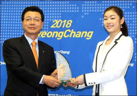 キムヨナはジュニア時代「平昌2014」の「招致名誉大使」だった
