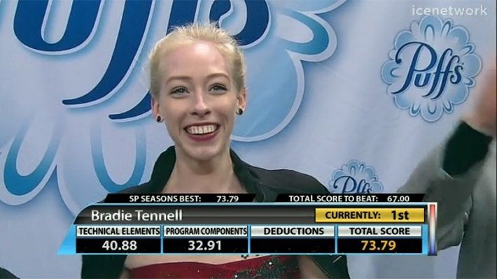 2018全米bradie tennell SP