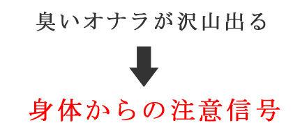 オナラの信号画像