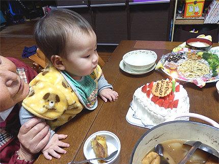 ツキの1歳の誕生日2
