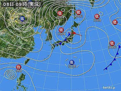 2012年12月8日天気図