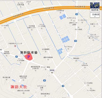 諏訪大社地図