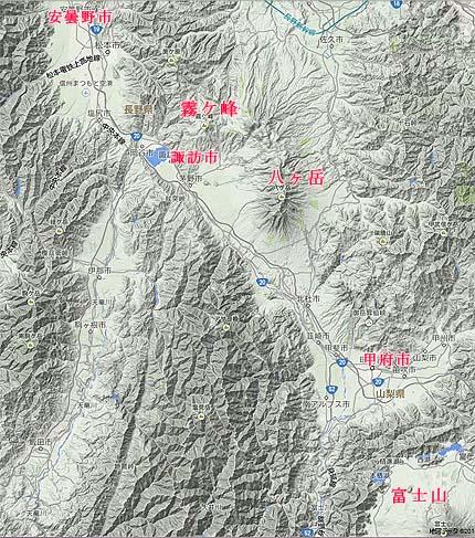 霧ケ峰地形図