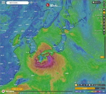 台風10号15日6時西日本