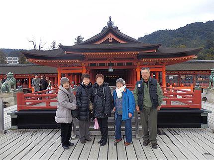 茨城の親戚と宮島10