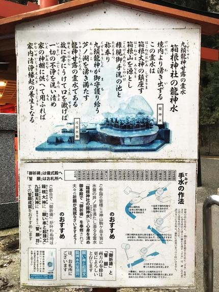箱根神社の龍神水3