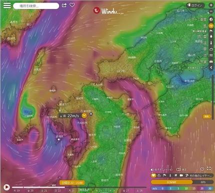 台風17号_九州北部