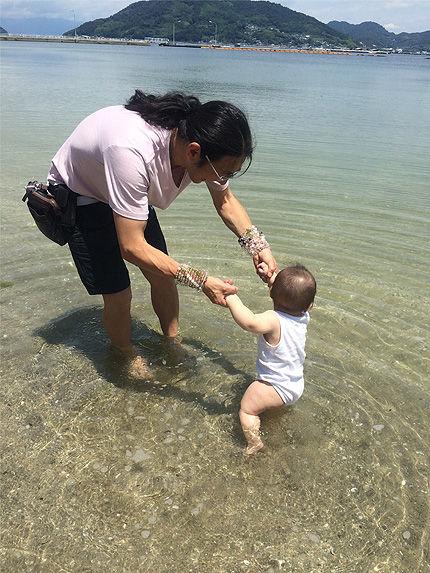 ツキの初海水浴3