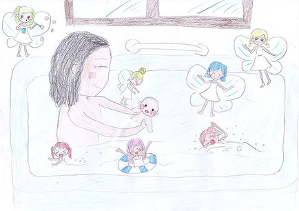 ツキと妖精とお風呂
