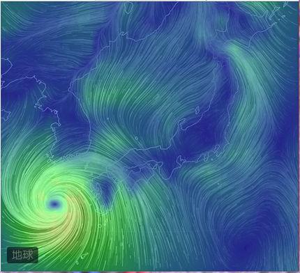 キャプチャ台風風向き
