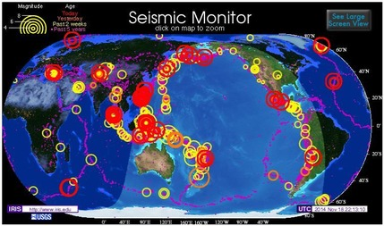 世界の地震2014年11月