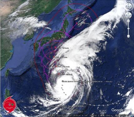 台風19号_10月10日_雲