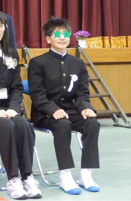 ナイトの中学校入学式