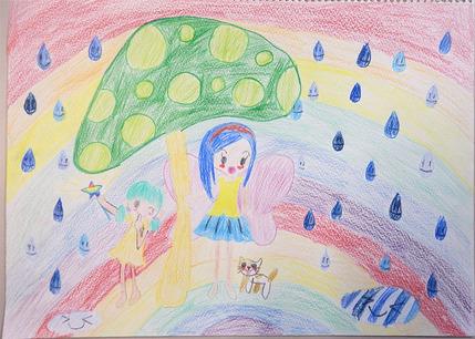 魔法の雨宿り