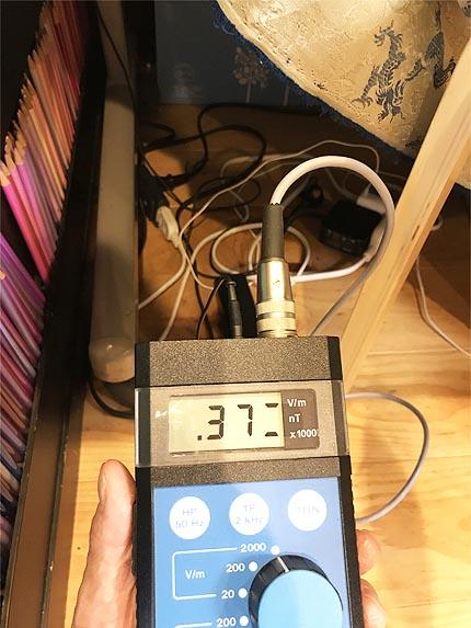 ヒーリングベッドの電磁波3