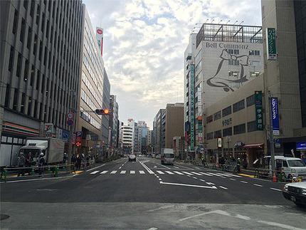 博多の陥没現場