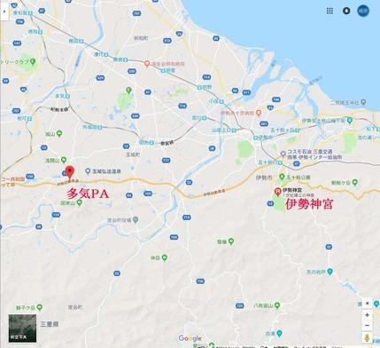 多気PA地図